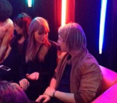 Taylor and Tom backstage