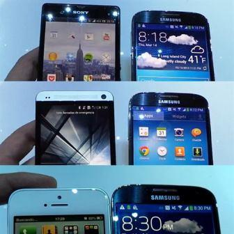 Galaxy S4 HTC iPhone5