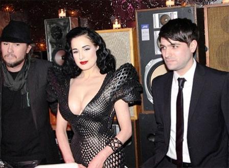 World Famous Bold Stripper Dita Von Teese in New York
